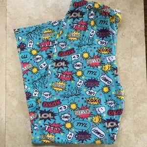 Text Pajama Pants